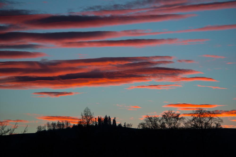 Typischer Abendhimmel des ersten Januardrittels mit klarer und milder Atlantikluft über Bern