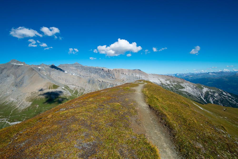 Extrem trockene Luft sorgte am 4. September auf dem Cassonsgrat in Graubünden für eine im Sommer ungewöhnlich gute Fernsicht
