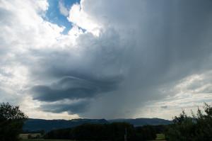 Die Gewitterlage am 6. Juli 2014 bot in der Region Bern viel Ästhetik