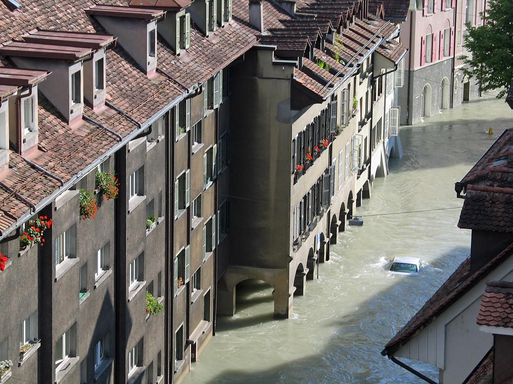 """Das Hochwasser im Berner Mattequartier vom 24. August 2005 müsste noch heute bestehen, ginge es nach einigen """"Sprachspezialisten"""""""