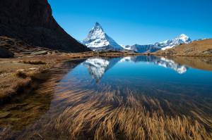 Der vollständig eis- und schneefreie Riffelsee (2757 m) bei Zermatt am 18. Oktober steht sinnbildlich für die Rekordwärme