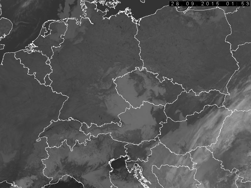 Infrarot-Satellitenbild NOAA19 von 03:53 (Quelle: Tschechischer Wetterdienst CHMI)