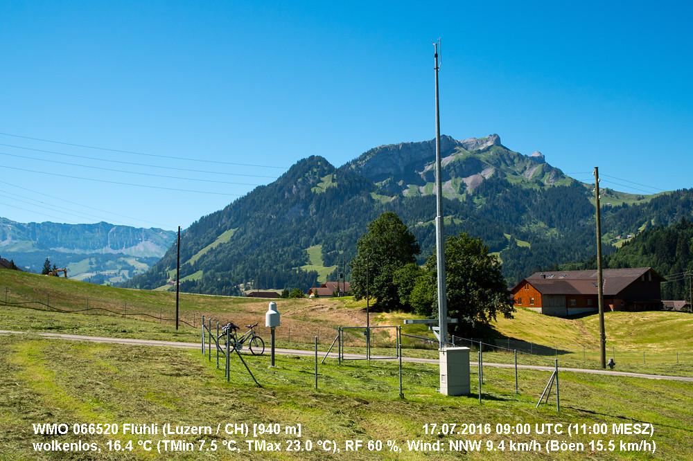 Allen Unkenrufen zum Trotz: Es gab im Alpenraum im Juli durchaus Prachtstage (etwa deren 10), wie hier am Sonntag den 17. in der Zentralschweiz